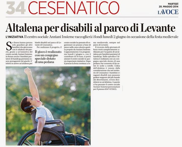Altalena per disabili a Cesenatico