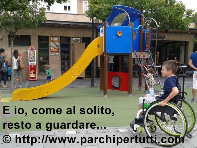 Inaugurato parco giochi ma i bambini disabili restano fuori