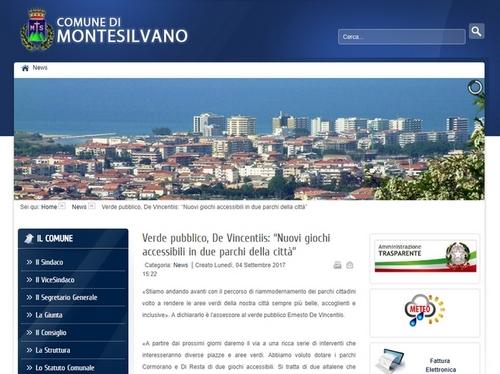Montesilvano nuovi giochi accessibili in due parchi della città