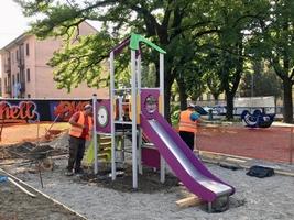 Treviglio, nuovi giochi nei parchi pubblici