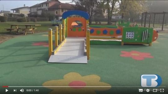 Inaugurato a Bribano spazio giochi inclusivo