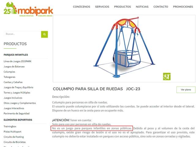 AAA. Danneggiata altalena per disabili in parco pubblico non sorvegliato
