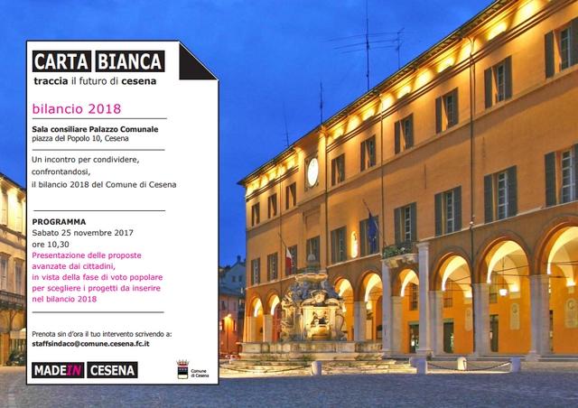 Cesena, bilancio partecipato