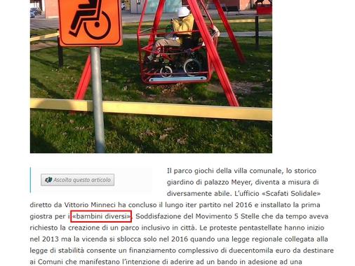 Scafati parco disabili?