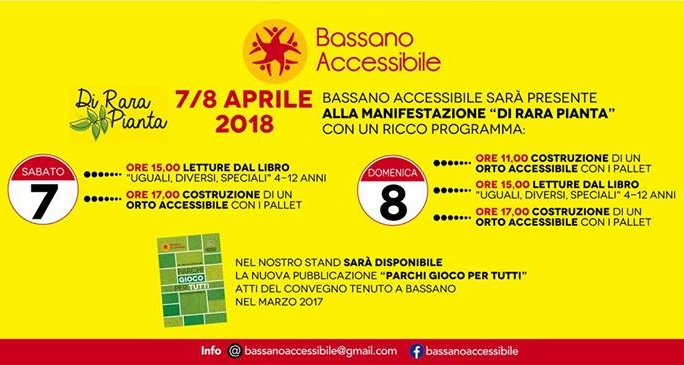 """Bassano Accessibile e """"Parchi gioco per tutti"""""""