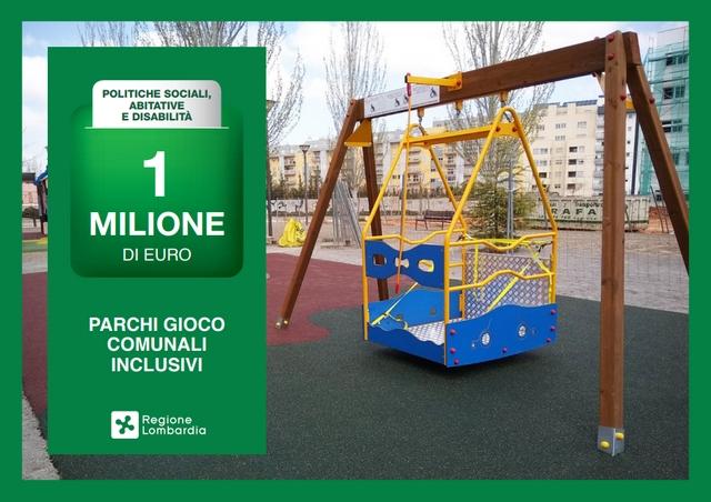 Stanziato 1 milione di euro per la realizzazione di parchi inclusivi in Lombardia