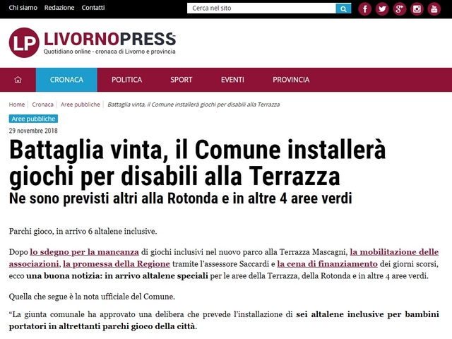 Livorno: altalene inclusive?