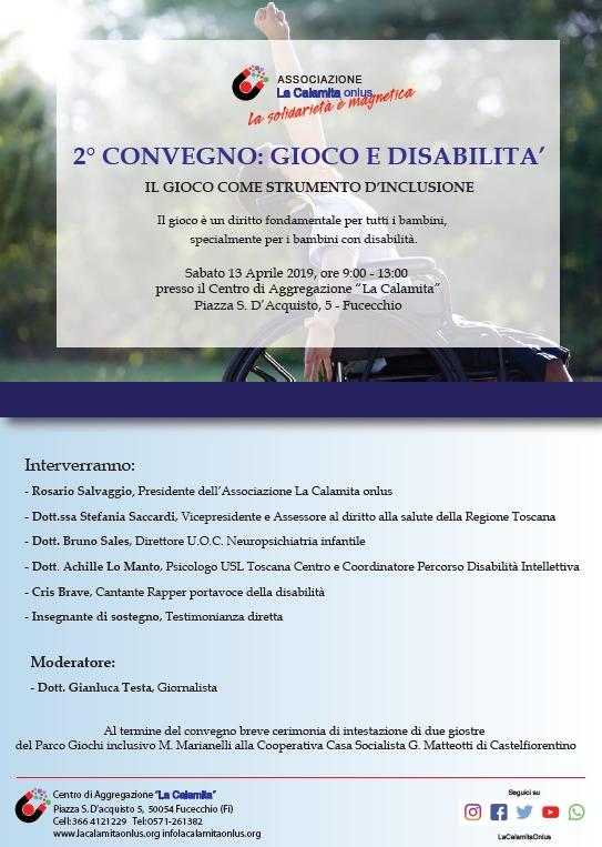 Fucecchio 2° convegno: gioco e disabilità