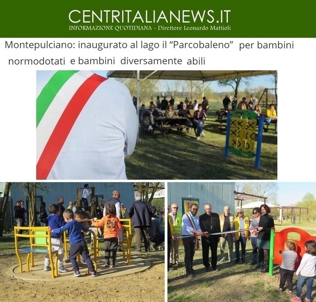 Montepulciano: un parco adatto a bambini con disabilità con fondo non accessibile