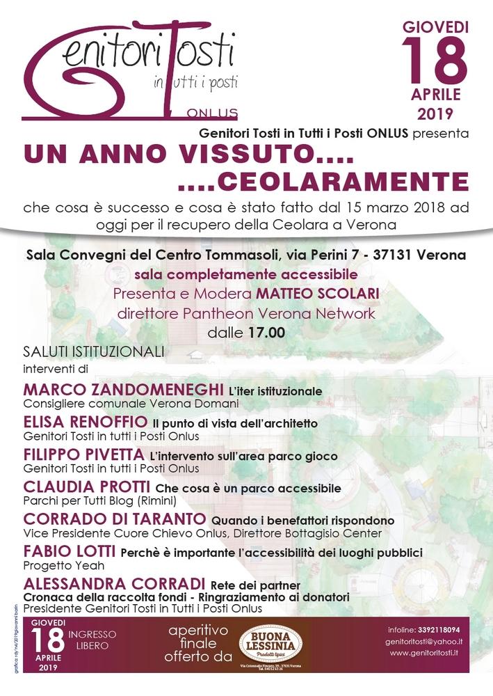 Verona, tavola rotonda parchi gioco inclusivi