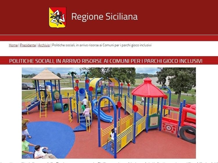 Sicilia: bando per i comuni per i parchi gioco inclusivi